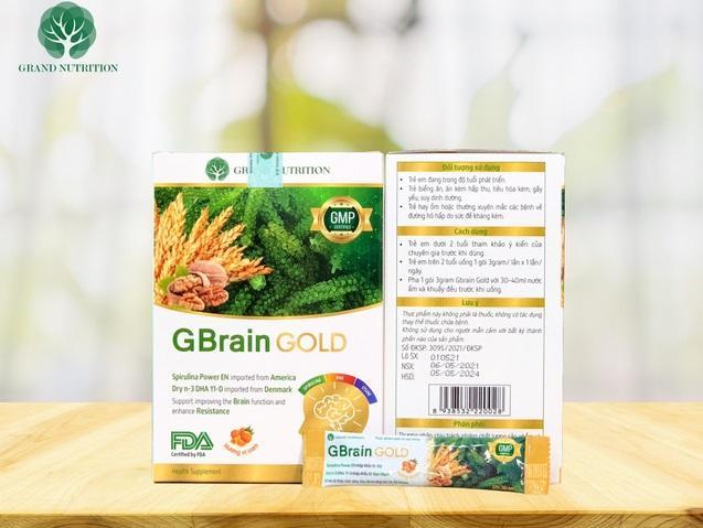 Cốm trí não GBrain Gold: Giải pháp mới hỗ trợ tăng cường tập trung trong học tập