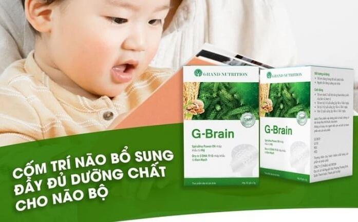 Cốm Trí Não G-Brain: Tăng cường tập trung trong học tập