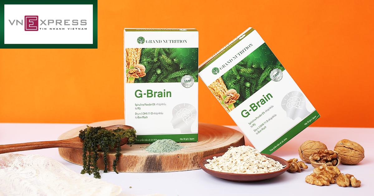 Cốm G-Brain hỗ trợ phát triển trí não cho bé