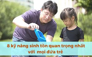 8 kỹ năng sinh tồn cha mẹ bắt buộc phải dạy con từ khi còn nhỏ.